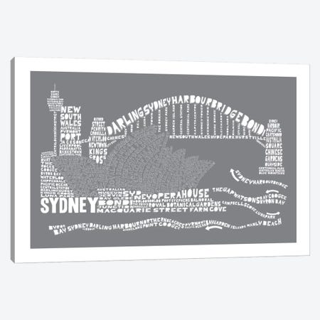 Sydney, Slate Canvas Print #AAA82} by Citography Canvas Print