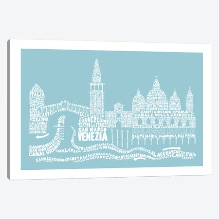 Venice, Aqua Canvas Print #AAA84} by Citography Canvas Art