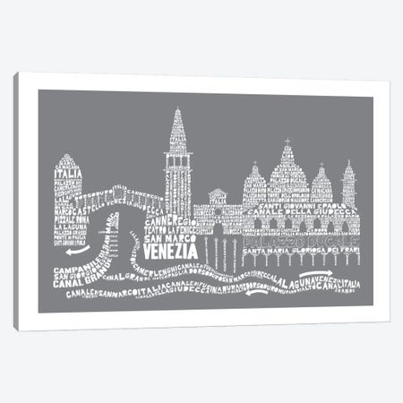 Venice, Slate Canvas Print #AAA86} by Citography Canvas Artwork