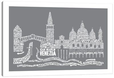 Venice, Slate Canvas Print #AAA86