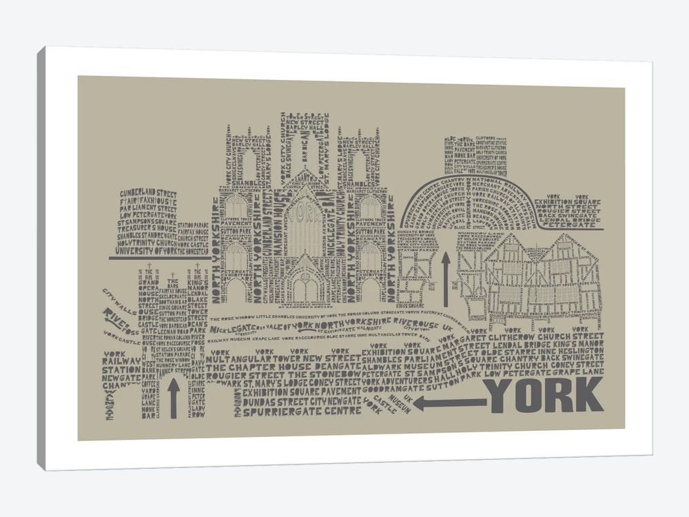 York, Sage by Citography 1-piece Canvas Art