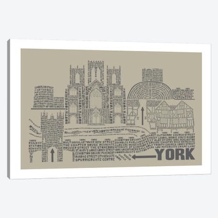 York, Sage Canvas Print #AAA89} by Citography Art Print