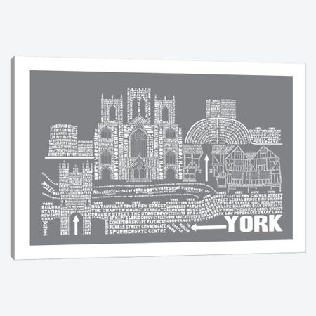 York, Slate Canvas Print #AAA90} by Citography Canvas Artwork