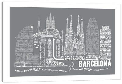 Barcelona, Slate Canvas Art Print