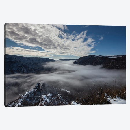 Through The Clouds And The Canyon Canvas Print #AAB91} by Annabelle Chabert Art Print
