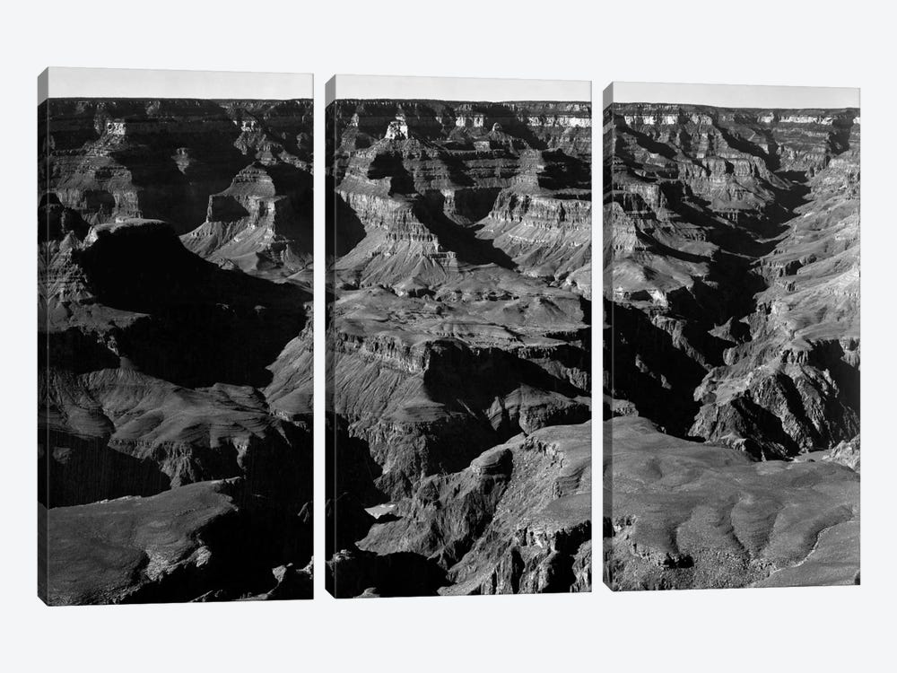 Grand Canyon National Park XVII by Ansel Adams 3-piece Canvas Art Print