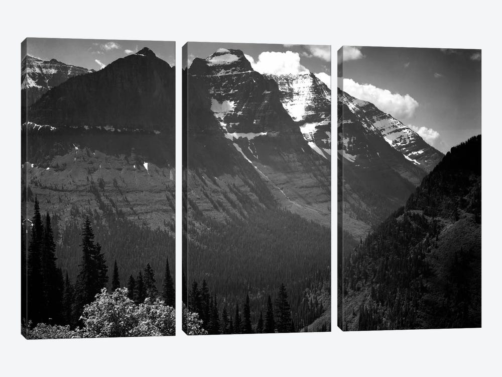 In Glacier National Park II by Ansel Adams 3-piece Canvas Art