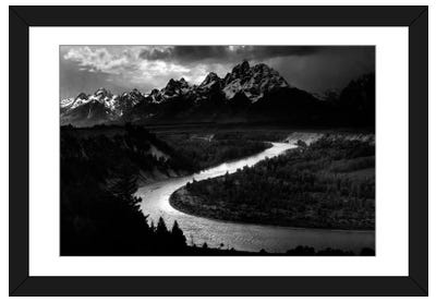 The Tetons - Snake River Framed Art Print