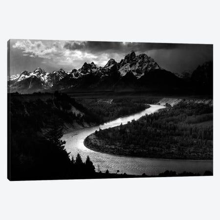 The Tetons - Snake River Canvas Print #AAD15} by Ansel Adams Canvas Art