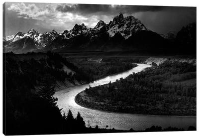 The Tetons - Snake River Canvas Print #AAD15
