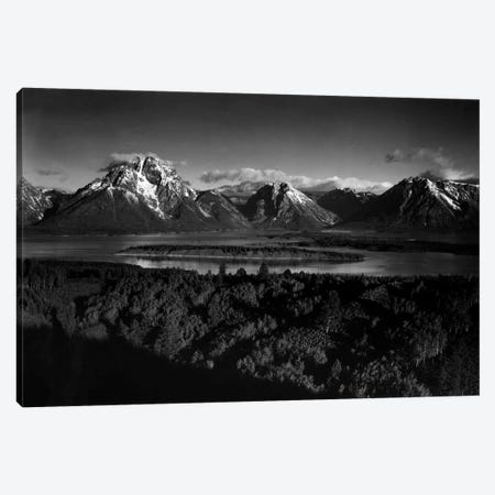 Mt. Moran and Jackson Lake from Signal Hill Canvas Print #AAD21} by Ansel Adams Canvas Wall Art