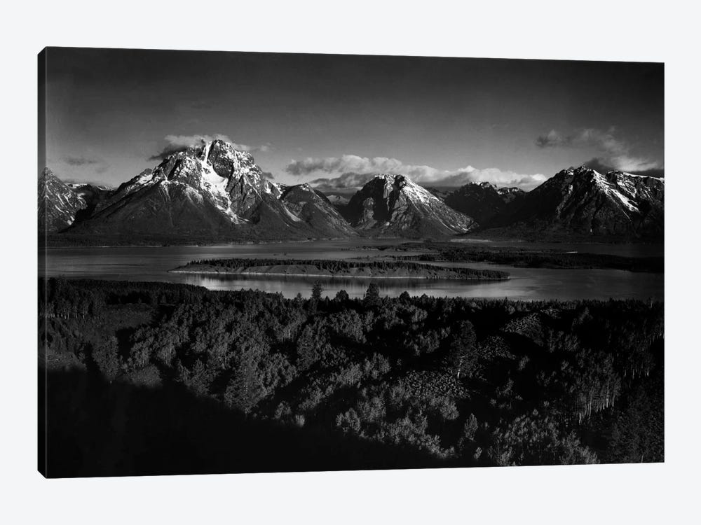 Mt. Moran and Jackson Lake from Signal Hill by Ansel Adams 1-piece Canvas Wall Art