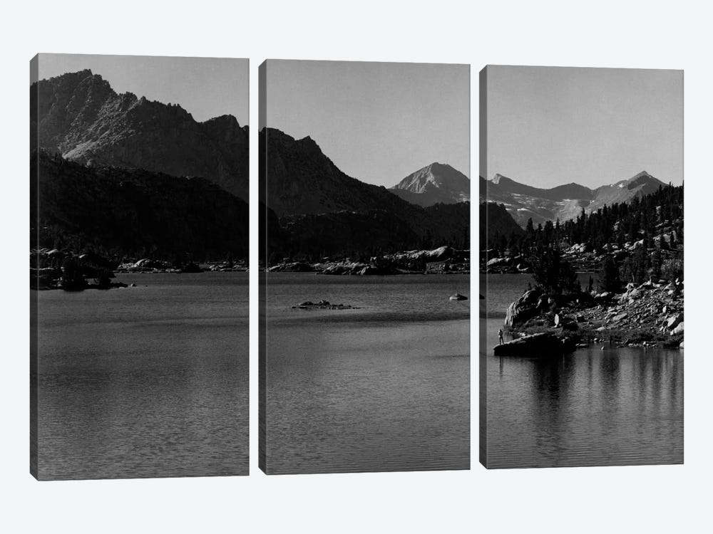 Rac Lake by Ansel Adams 3-piece Canvas Artwork