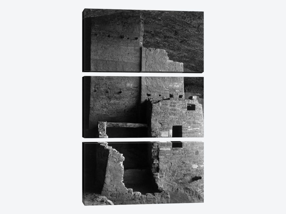 Cliff Palace, Mesa Verde National Park by Ansel Adams 3-piece Canvas Art Print