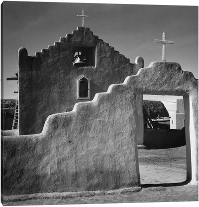 Church, Taos Pueblo, New Mexico, 1941 Canvas Art Print