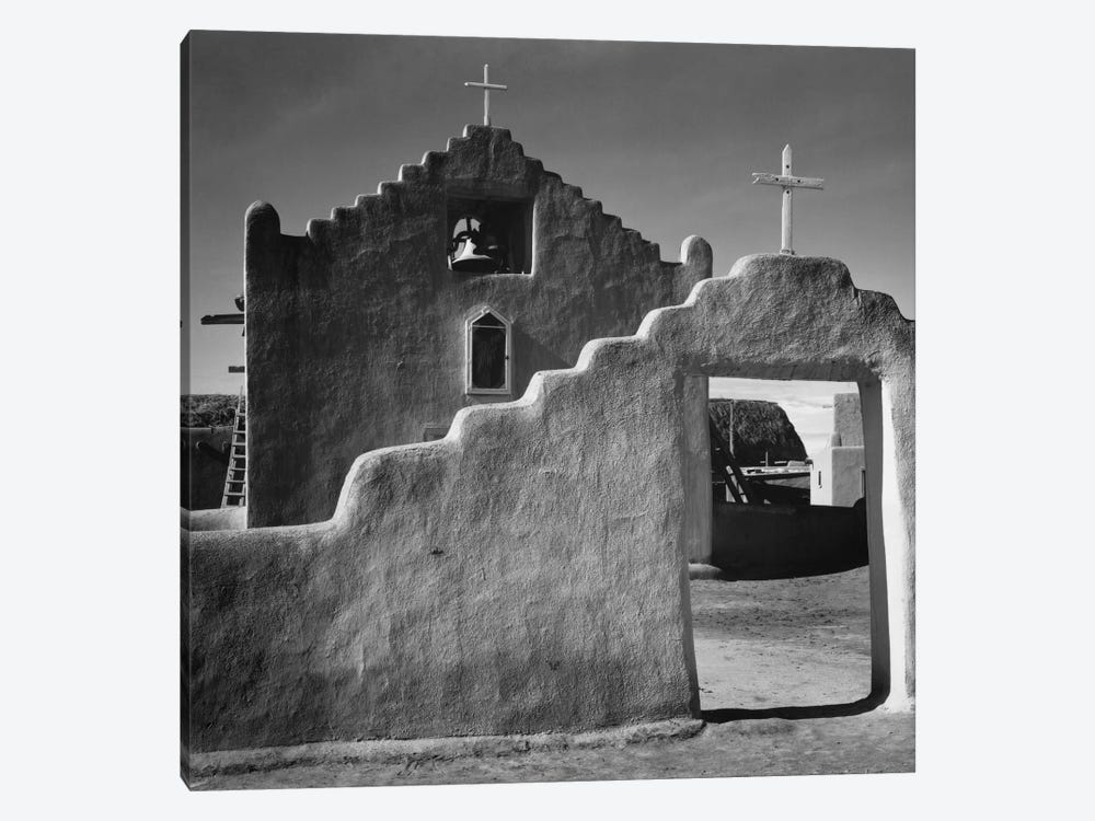 Church, Taos Pueblo, New Mexico, 1941 by Ansel Adams 1-piece Canvas Art Print