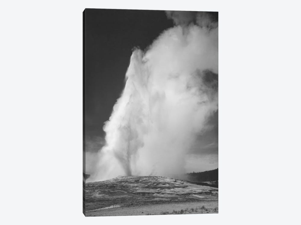Old Faithful Geyser, Yellowstone National Park by Ansel Adams 1-piece Canvas Wall Art