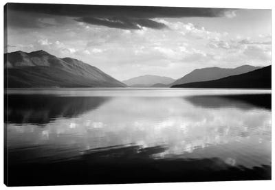 Evening, McDonald Lake, Glacier National Park Canvas Art Print