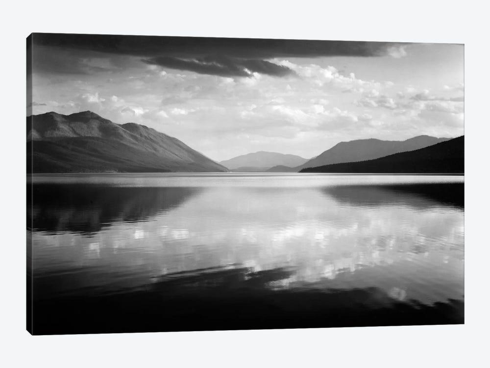 Evening, McDonald Lake, Glacier National Park by Ansel Adams 1-piece Canvas Wall Art