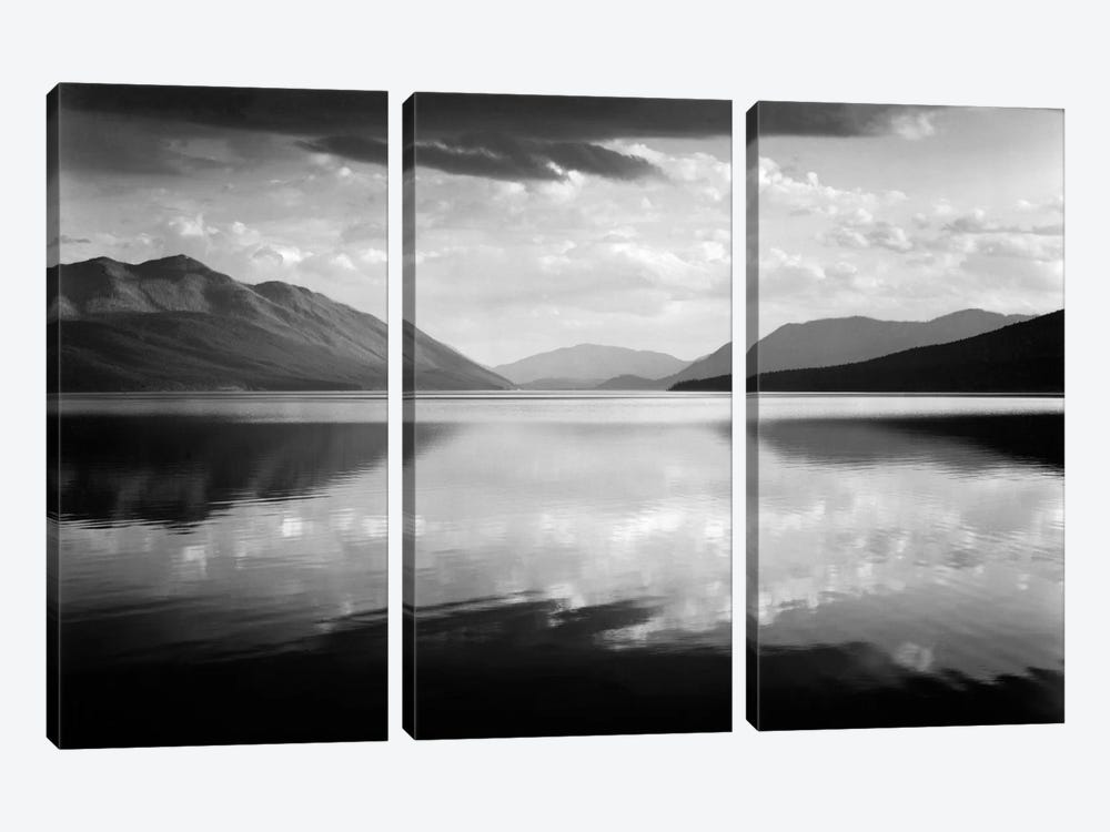 Evening, McDonald Lake, Glacier National Park by Ansel Adams 3-piece Canvas Art