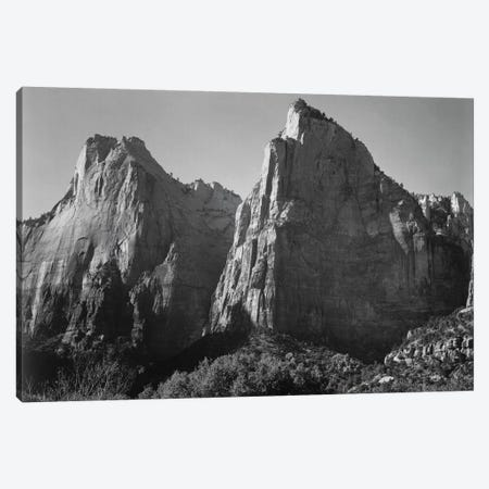 Court of the Patriarchs, Zion National Park Canvas Print #AAD30} by Ansel Adams Canvas Print
