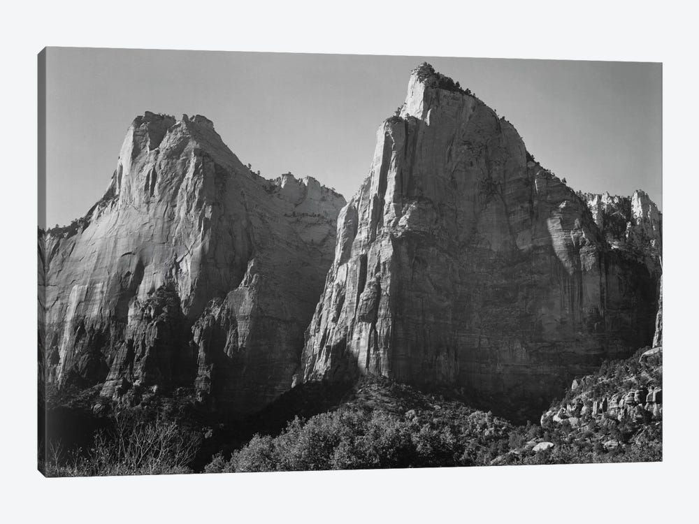 Court of the Patriarchs, Zion National Park by Ansel Adams 1-piece Canvas Artwork
