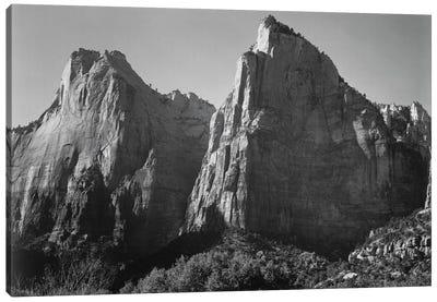 Court of the Patriarchs, Zion National Park Canvas Art Print