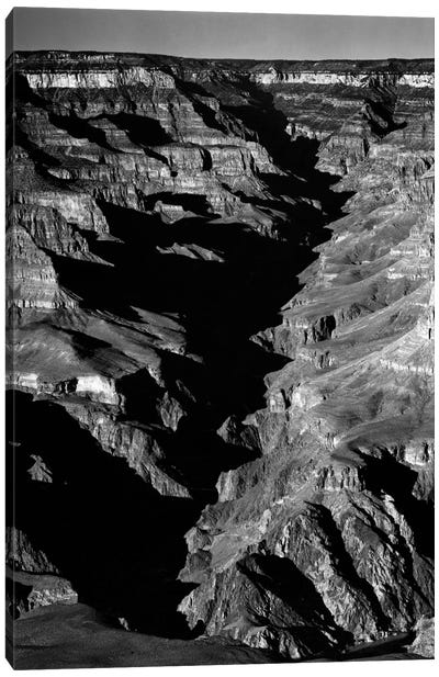 Grand Canyon From S. Rim, 1941 Canvas Art Print