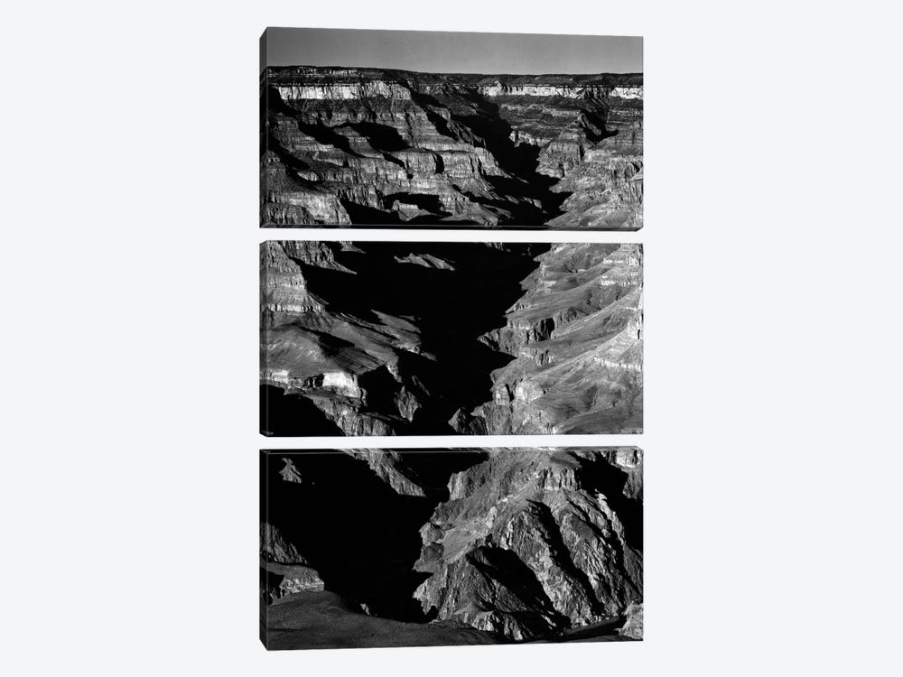 Grand Canyon From S. Rim, 1941 by Ansel Adams 3-piece Canvas Art Print