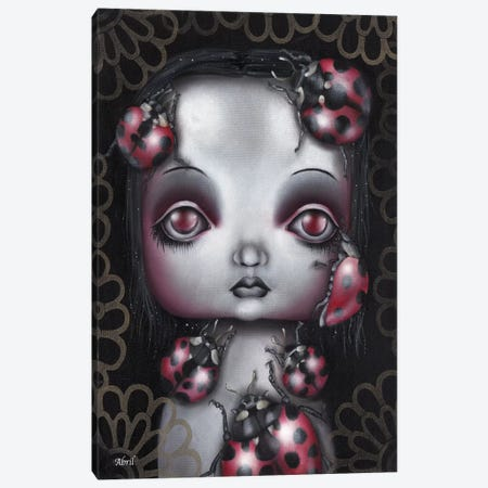 Ladybug Girl Canvas Print #AAE13} by Abril Andrade Canvas Artwork
