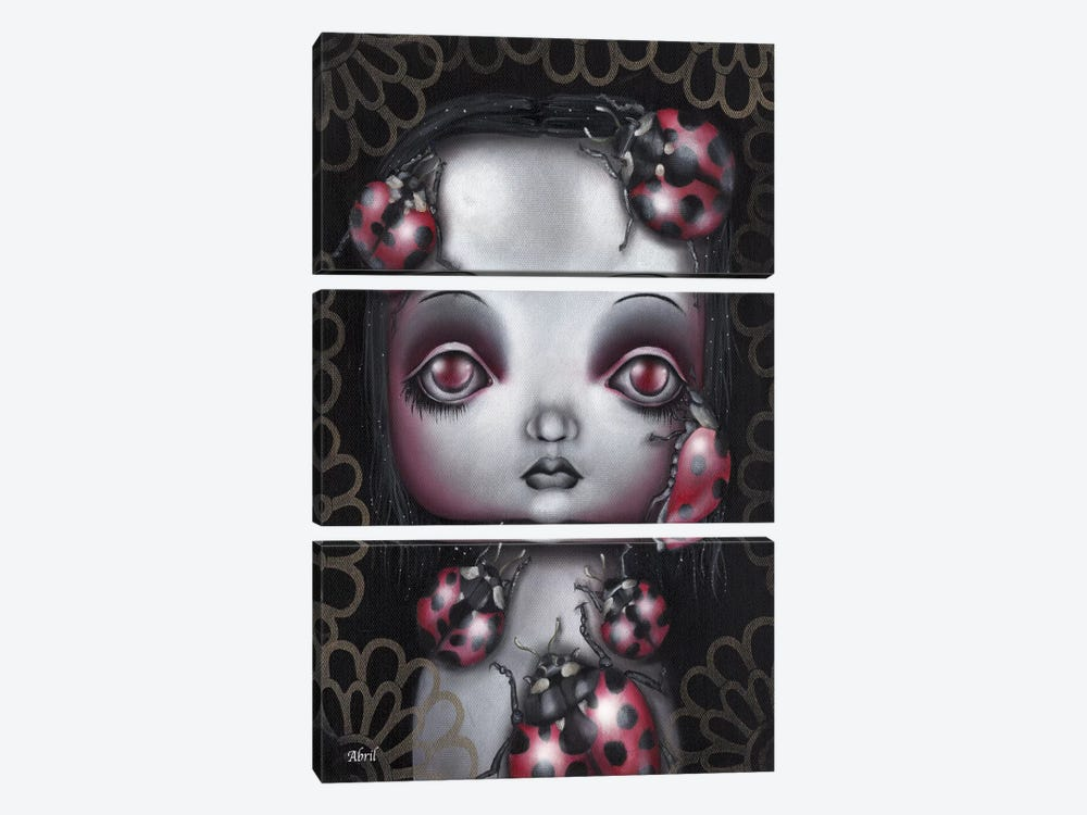 Ladybug Girl by Abril Andrade 3-piece Canvas Art