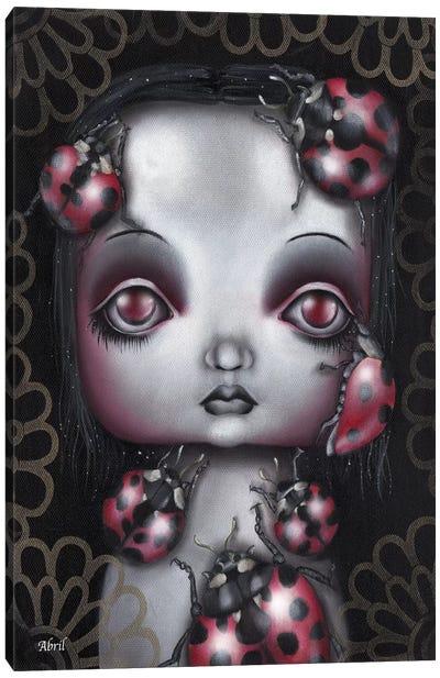 Ladybug Girl Canvas Art Print
