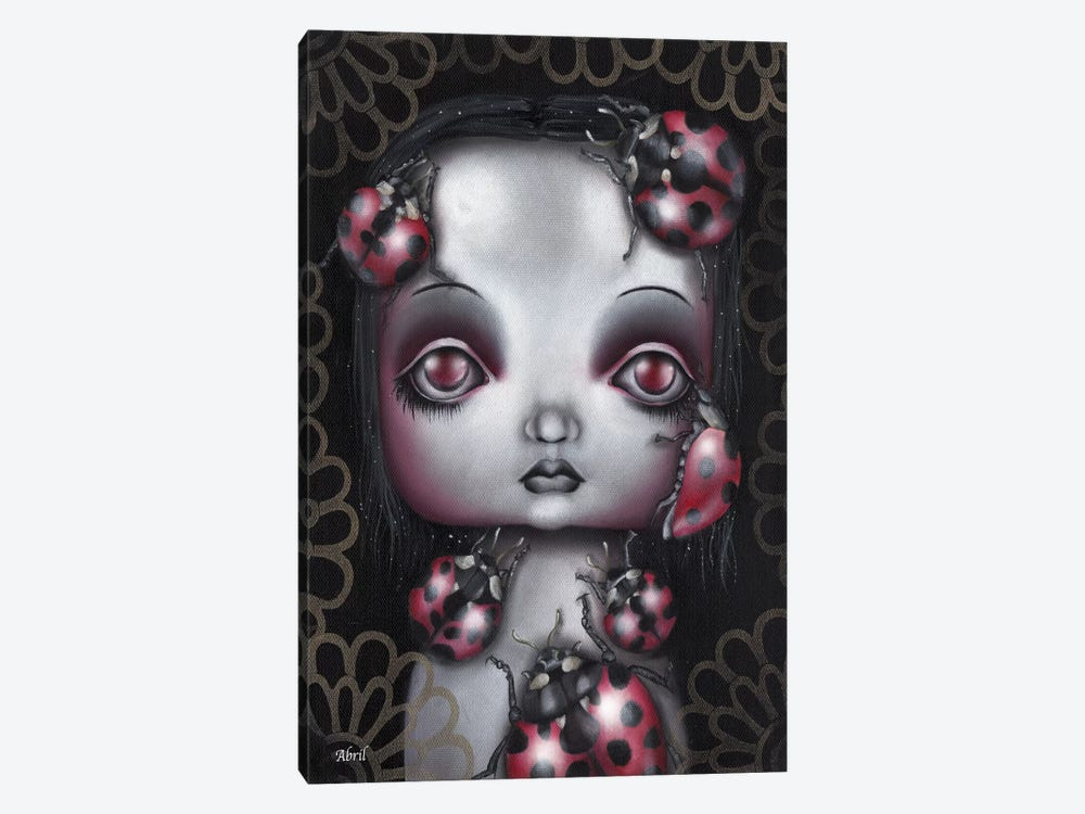Ladybug Girl by Abril Andrade 1-piece Canvas Wall Art