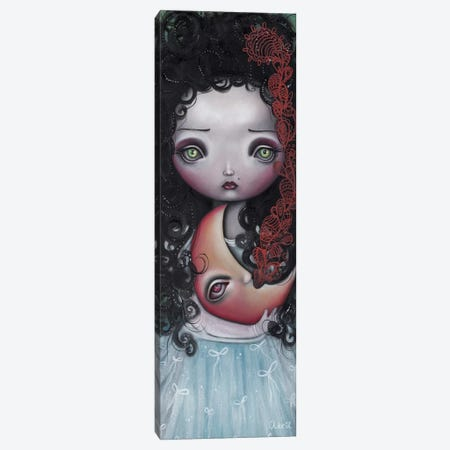 Moon Keeper Canvas Print #AAE16} by Abril Andrade Art Print