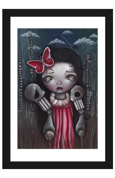 Bones And Butterflies Framed Art Print