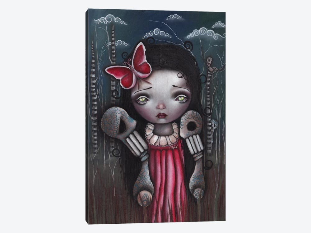 Bones And Butterflies by Abril Andrade 1-piece Canvas Art