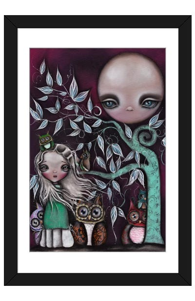 Night Creatures Framed Art Print