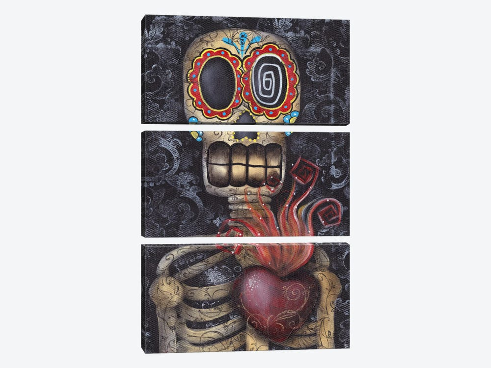 Sacred Heart by Abril Andrade 3-piece Canvas Artwork