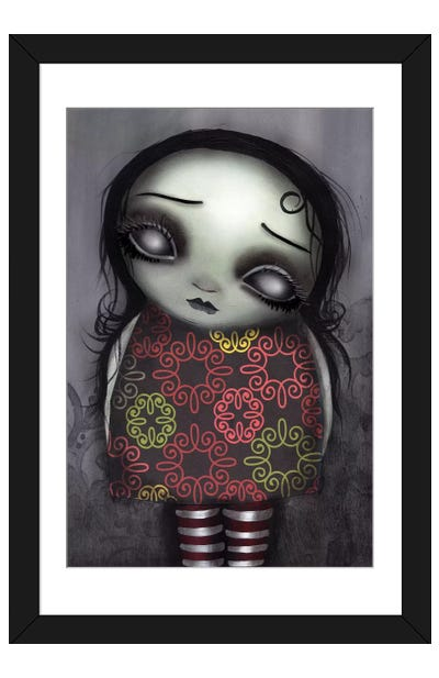 Zombie Girl Framed Art Print