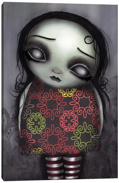 Zombie Girl Canvas Art Print