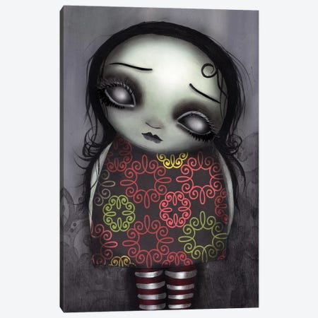 Zombie Girl Canvas Print #AAE39} by Abril Andrade Canvas Wall Art