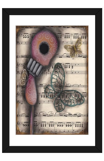 Butterfly Secrets Framed Art Print