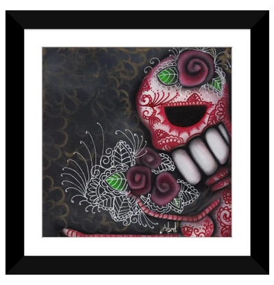 Flowers For The Dead Framed Art Print