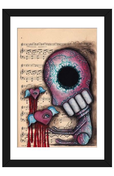 Melting Hearts Framed Art Print
