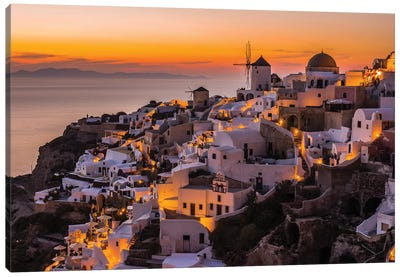 Calispera Santorini Canvas Art Print