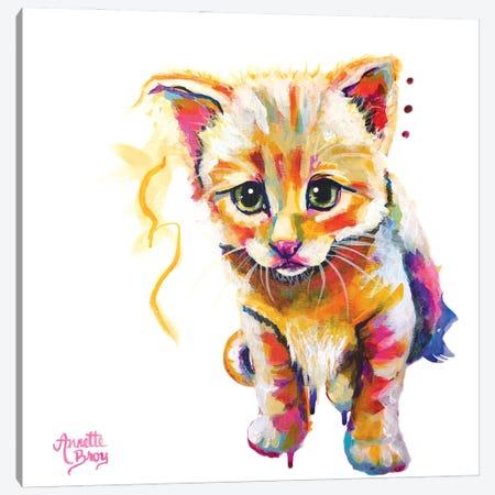 Yellow Kitten Canvas Print #AAH10} by A & A Arthappy Canvas Art Print