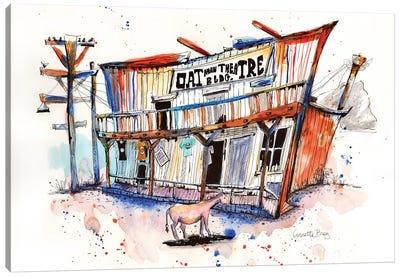 Route 66 Series Oatman Theatre Canvas Art Print