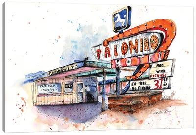 Route 66 Series Palomino Motel Canvas Art Print