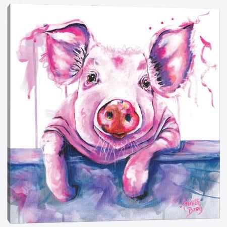 Peg The Pig Canvas Print #AAH4} by A & A Arthappy Canvas Artwork