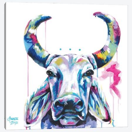 Brahma Cow Canvas Print #AAH5} by A & A Arthappy Canvas Art